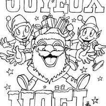Coloriages Coloriage Joyeux Noel A Imprimer Fr Hellokids Com