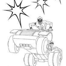 Coloriages Un Power Rangers Sur Un Quad Fr Hellokids Com