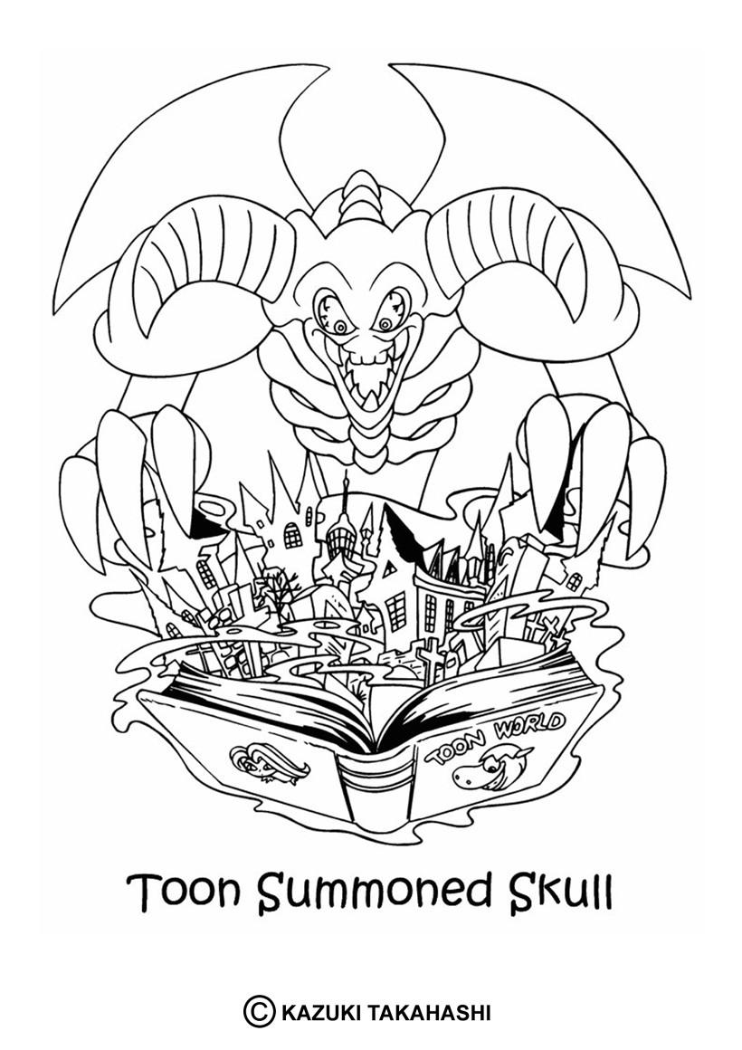 coloriages coloriage de yugioh  toon summoned skull