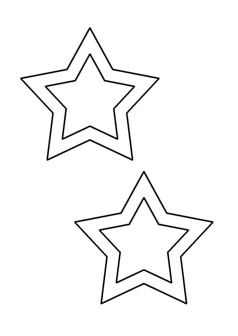 Fiche bricolage : gabarit d'étoiles