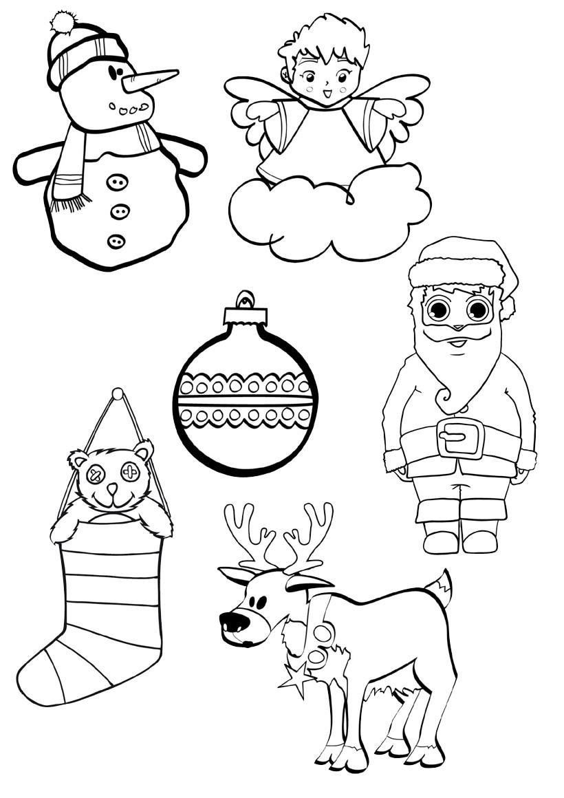 Belle Decoration Noel Coloriage Imprimer | Imprimer et Obtenir une Coloriage Gratuit Ici