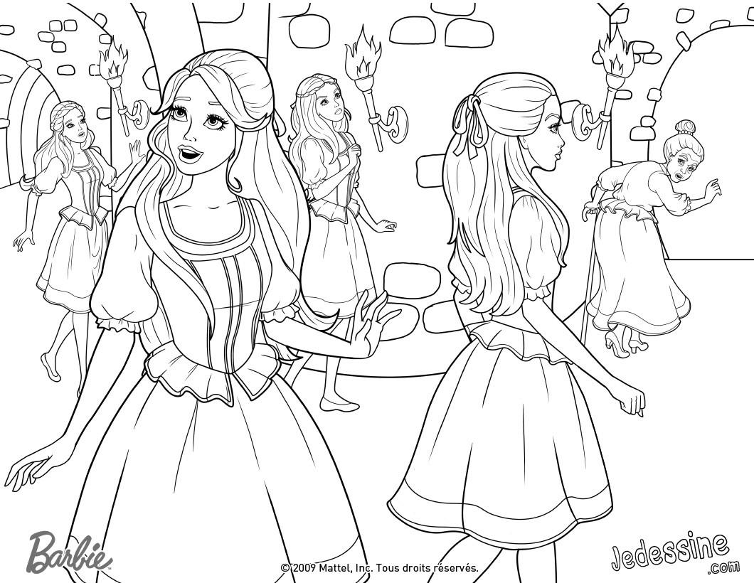 coloriage des filles a la decouverte du chateau