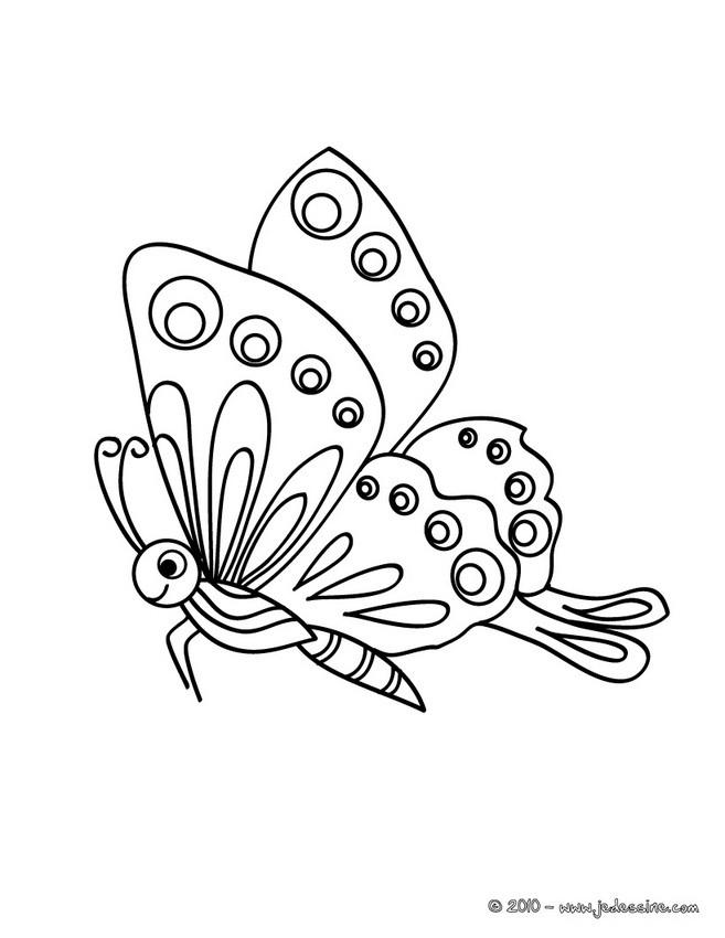 Coloriages Joli Petit Papillon Fr Hellokids Com