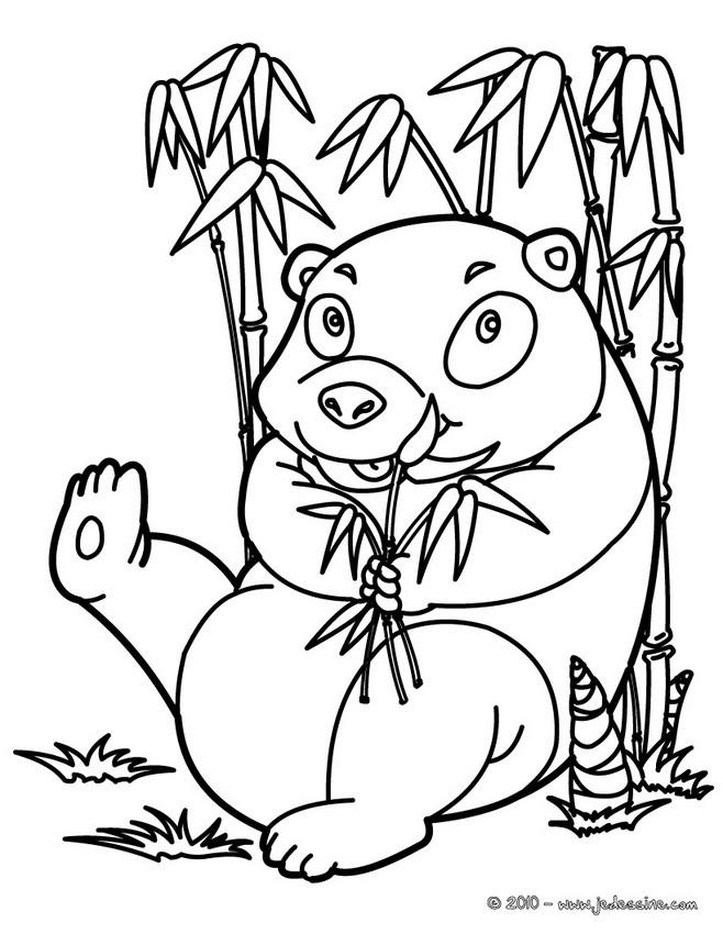 Coloriages coloriage de panda - fr.hellokids.com
