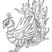 coloriages coloriage d'un phoenix - fr.hellokids
