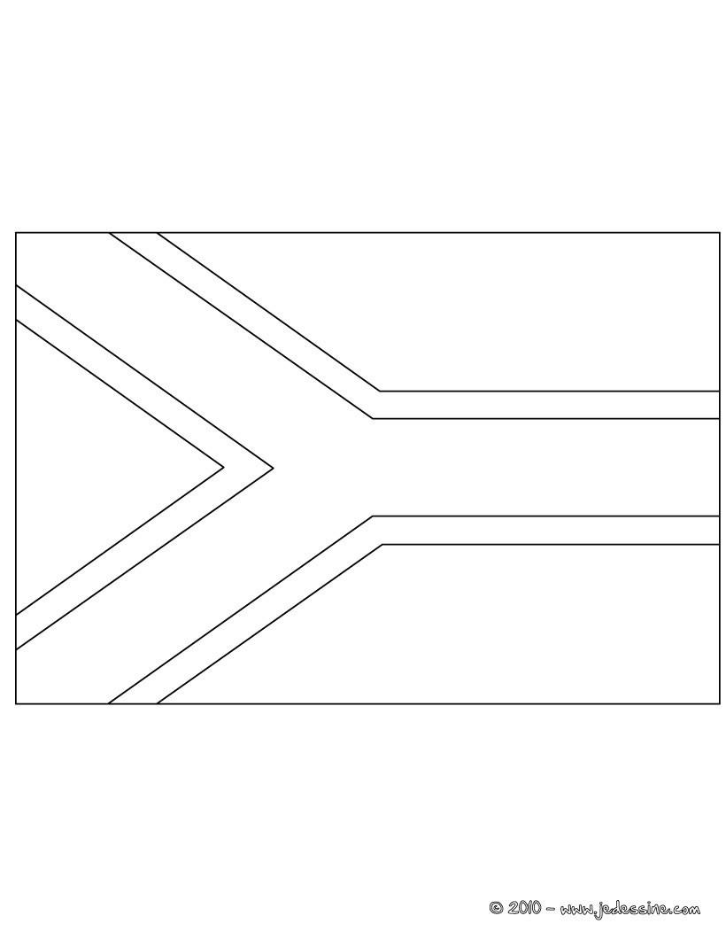 coloriage du drapeau de l afrique du sud