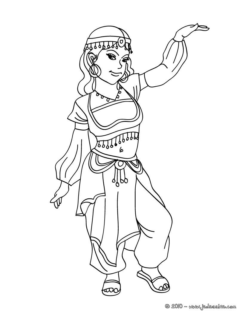 princesse arabe a colorier en ligne