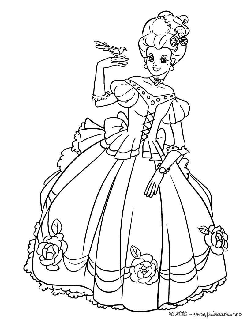 coloriage princesse francaise