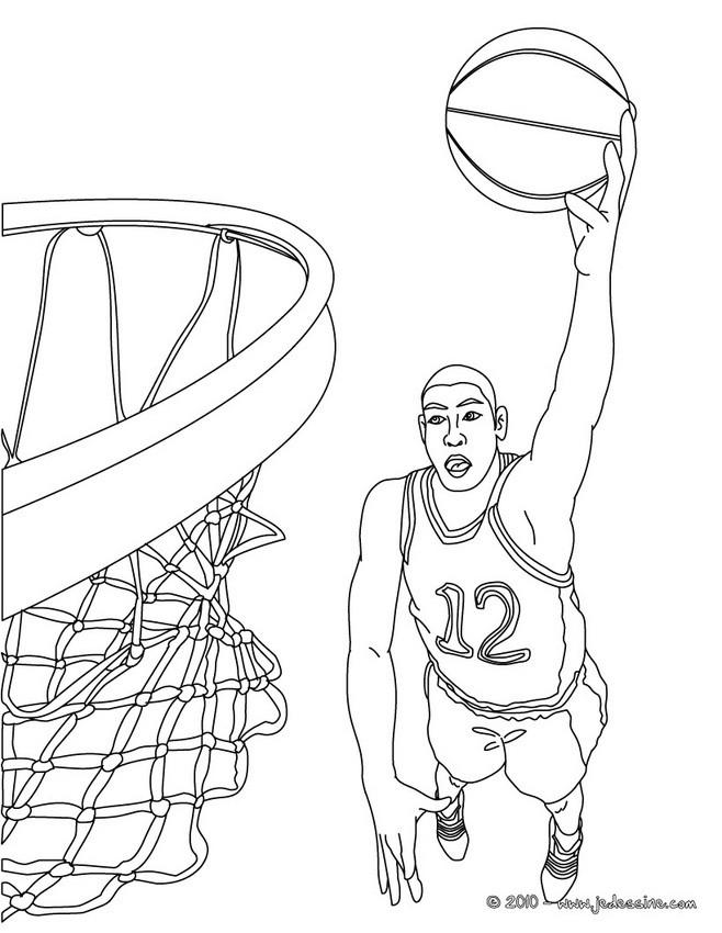 coloriage d un dunk a imprimer