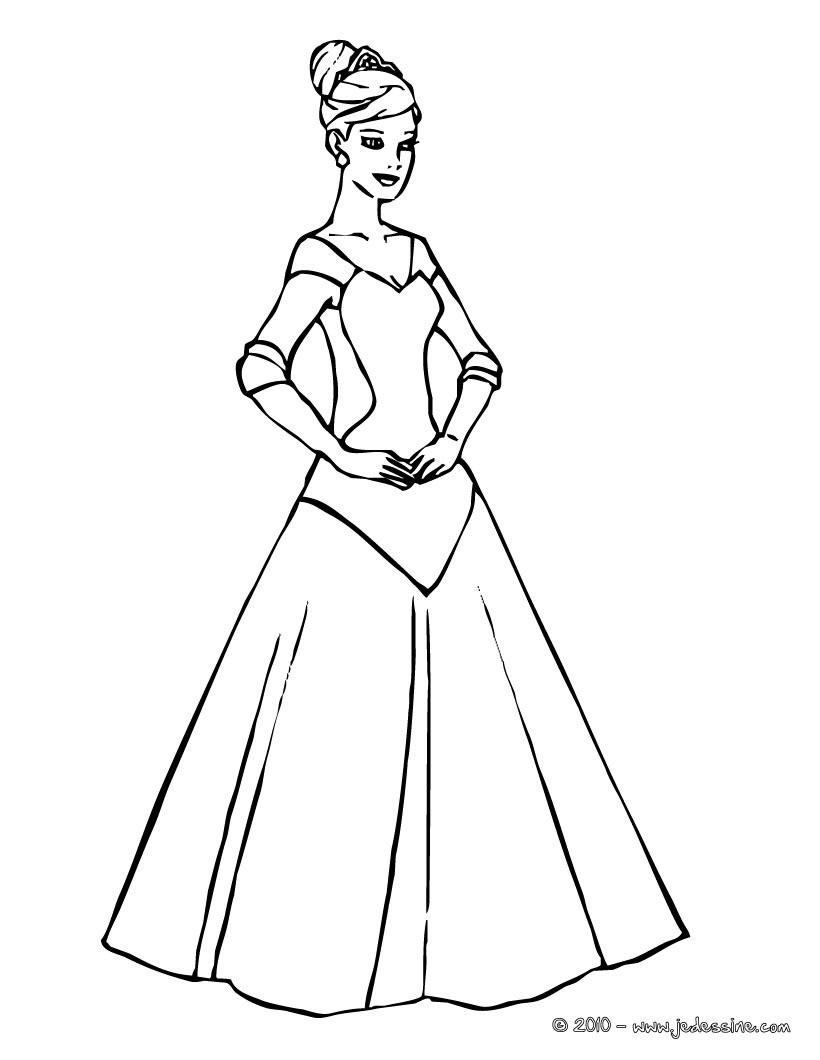 princesse a colorier en ligne