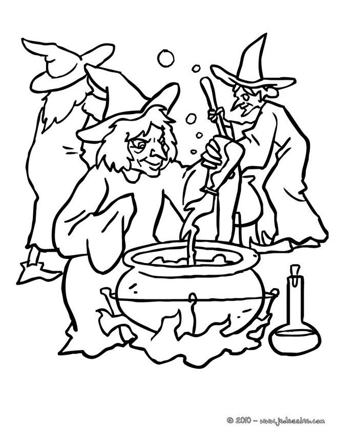 coloriage cuisine des sorcieres