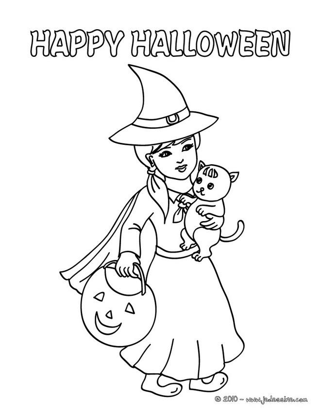 Coloriages De Sorcieres D Halloween 85 Coloriages D Halloween