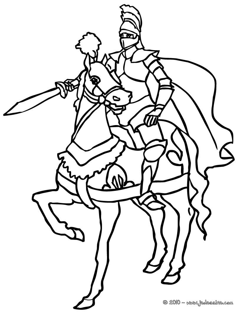chevalier a imprimer
