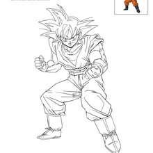 Coloriages Goku A Colorier Fr Hellokids Com