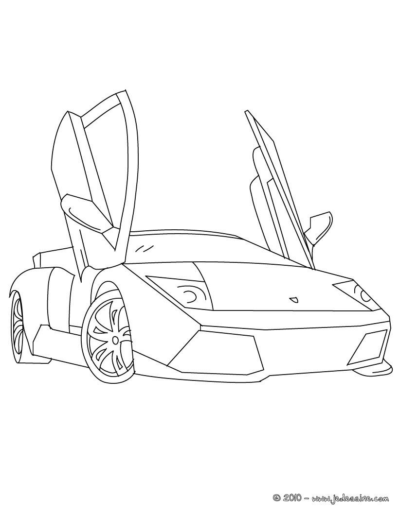 lamborghini coloriage voiture de sport  coloriage voiture