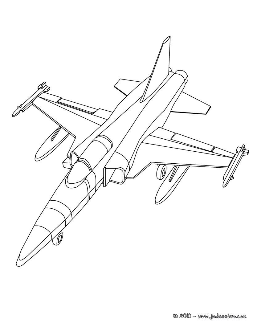 Coloriages Coloriage Avion De Guerre En Vol Fr Hellokids Com