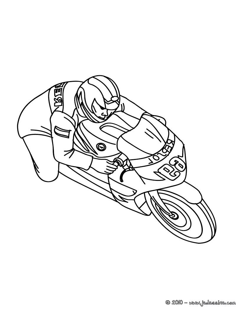 Coloriages Coloriage Moto Cross A Imprimer Fr Hellokids Com