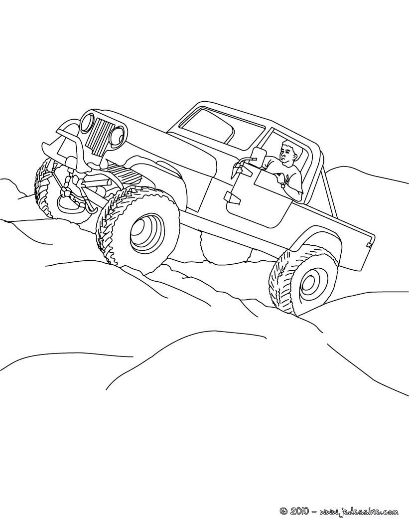 pick up tout terrain a colorier
