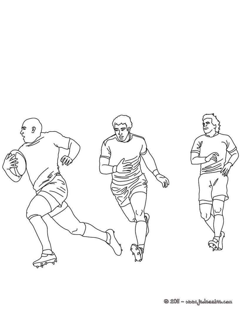 coloriage de rugby