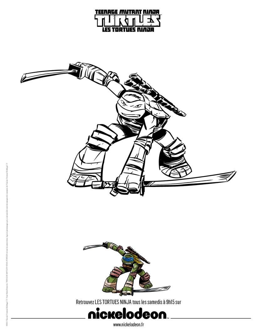 Coloriage Tortue Ninja Donatello Muscle Dessin Gratuit A Imprimer