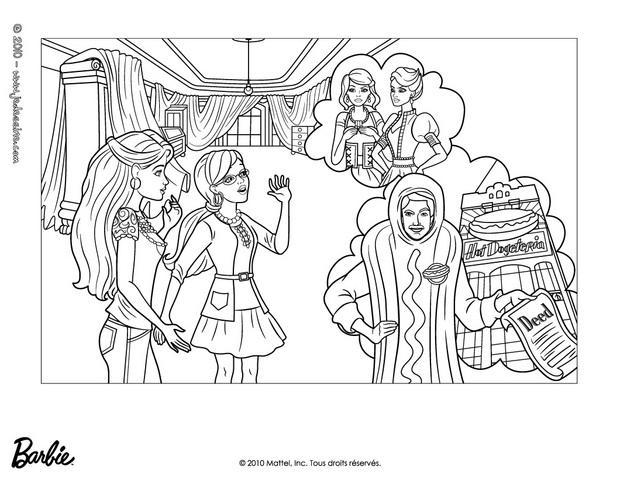 Coloriages alice et barbie à imprimer - fr.hellokids.com