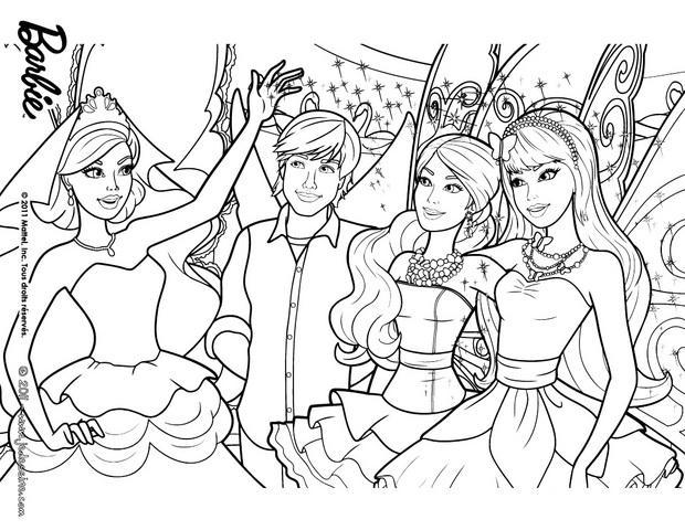 barbie ken et ses amies les fees a colorier