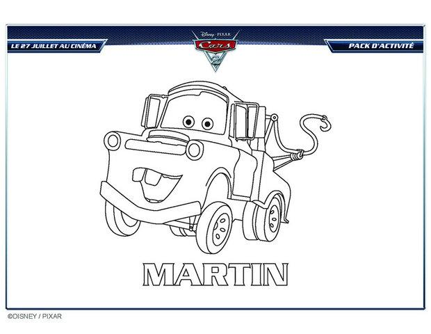cars 2 martin a imprimer