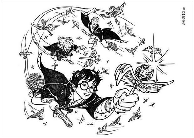 Coloriages Harry Potter Coloriages Coloriage A Imprimer