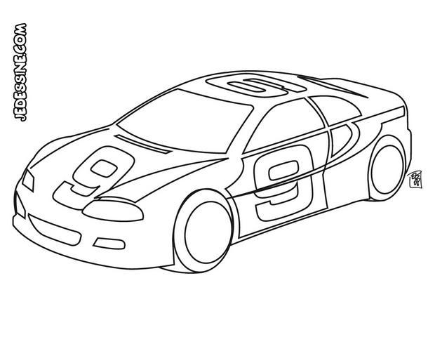 coloriage d une voiture de course
