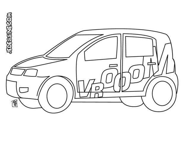 coloriage d une voiture de rallye