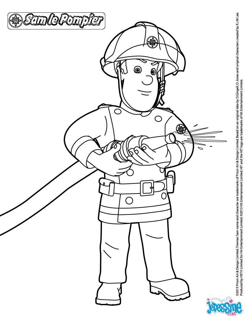 Coloriages Sam Le Pompier Fr Hellokids Com