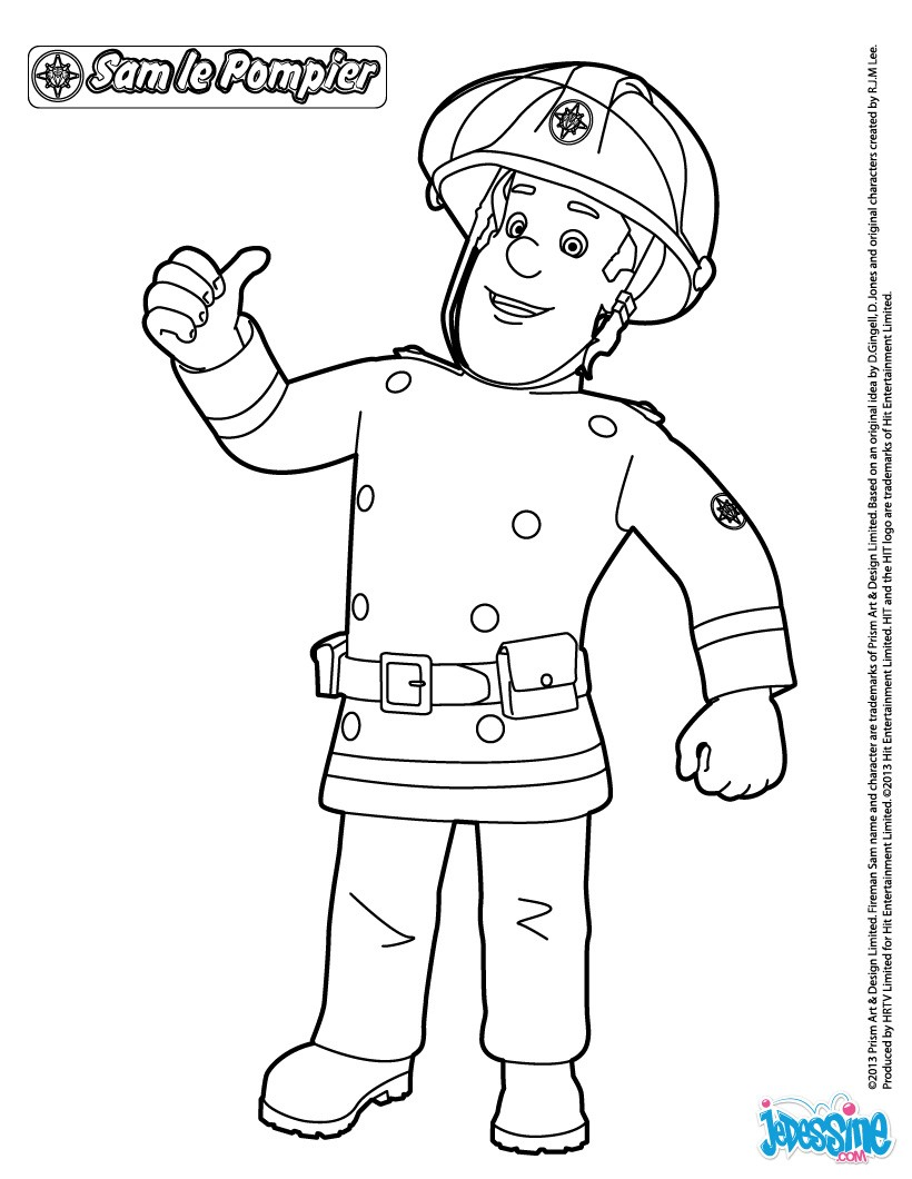 Coloriages Sam Le Pompier A Imprimer Fr Hellokids Com
