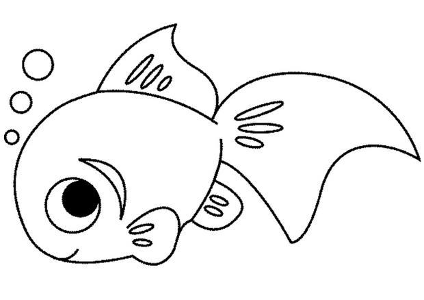 coloriage d un poisson qui fait des bulles