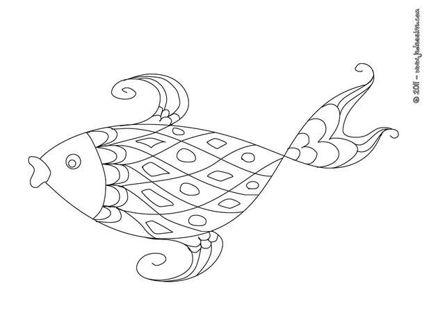 grand poisson coloriage a imprimer