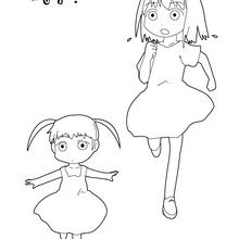 Coloriages Manga Fr Hellokids Com