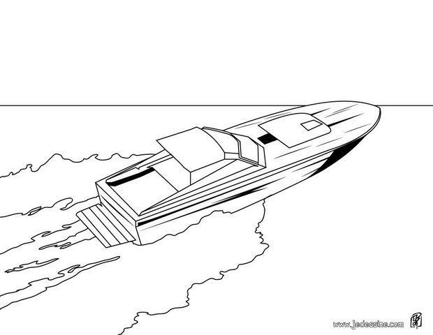 coloriage d un bateau a grande vitesse