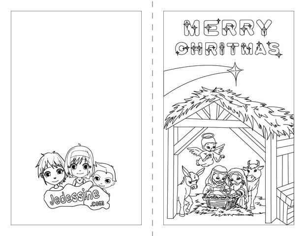 Cartes De Voeux De Noel A Colorier 32 Coloriages De Noel