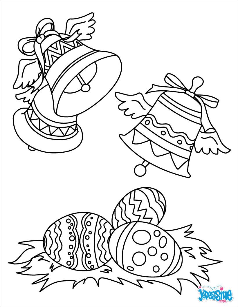 Coloriage Cloches De Paques Coloriages Coloriage A Imprimer