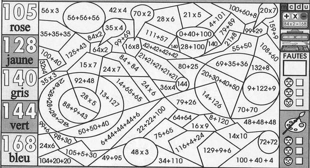 coloriage magique cm1 maths