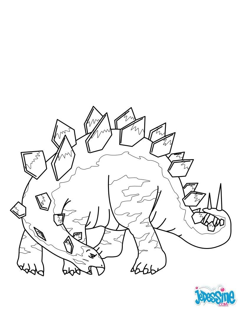 coloriages stegosaure  frhellokids
