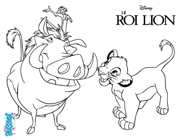 Coloriage Le Roi Lion Coloriages Gratuits A Imprimer Sur