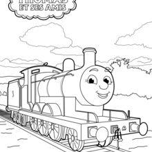Coloriage Thomas Le Petit Train Coloriages Coloriage A