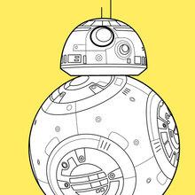 Coloriages Bb8 Le Droide De Star Wars 7 Fr Hellokids Com