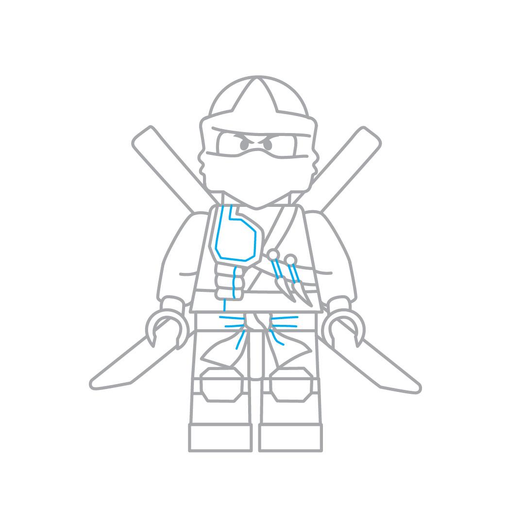 Comment Dessiner Le Lego Ninja De Ninjago Fr Hellokids Com