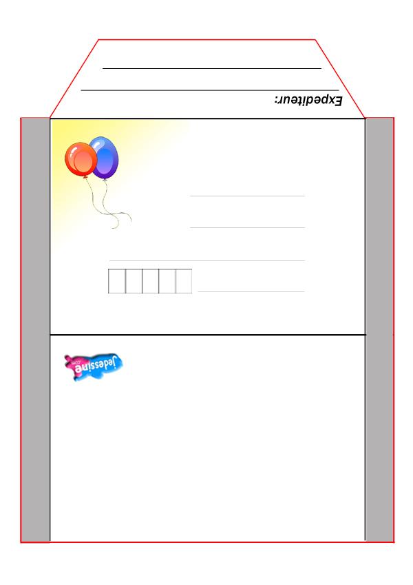 Super Activités manuelles enveloppe: clown - fr.hellokids.com OA65
